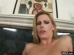 Gorgeous blond MILF takes a long one
