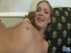 Blonde Becky sucks his cock before she goes for a fuck ride on it