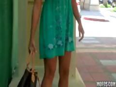 Busty blonde babe gets a little horny and masturbates in public