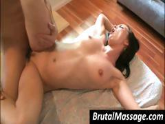 This big-dicked masseur really made Ally Style yell from pleasure