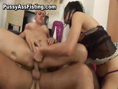 Busty slut gets her ass fucked and pussy part6
