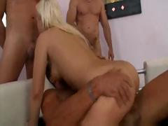 Four guys get to know Bibi Noel - a restless and insatiable cock junkie