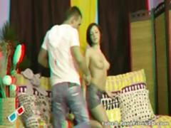 Watch a horny teen couple fuck like there is no tomorrow - in 3D!
