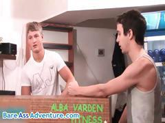 David Road in hot gay threesome porn part3