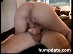 Hot wife with sexy ass is riding husband's cock and filming it