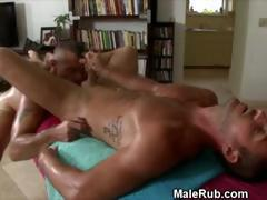 Gay Anal Fucking And Cumshot On Balls On Portable Massage Table