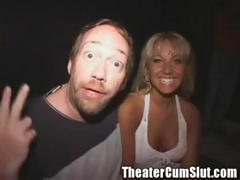 Group sex party in local Tampa porn theater with hot fucking