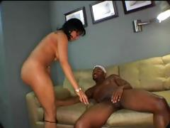 Ebony Olivia Winters gets this black cock to suck and fuck