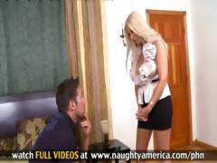 Blonde Latina MILF fucks her tenant so he'll pay up his rent