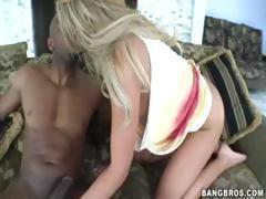 Blonde Jaelyn Fox gets a monster black cock and gets fucked