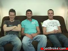 Blake, Jeremy and Austin gay threesome part1