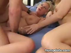 Mandy Bright and Carley Parker take turns sucking and fucking