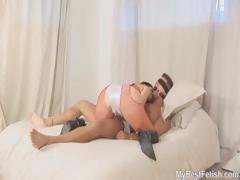 BALL GAGGED HANDJOB  WITH TIFFANY
