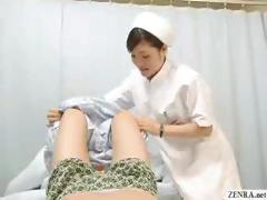 Japanese nurse gives caring handjob to lucky patient