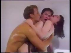 Retro film with Katy Parker and Rocco in a hot threesome clip