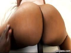 Luscious black booty is sucking and getting fucked by black dick