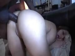Brunette babes with a bubble butt gets a black cock deep inside