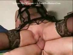 French granny gets some lovin' and a hard cock to fuck her