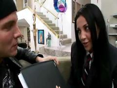 Audrey Bitoni is the naughty schoolgirl sucking and fucking