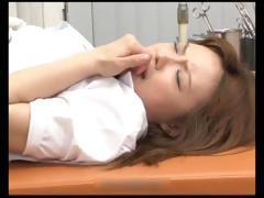 Japanese girl goes to a pussy exam and gets violated and fucked