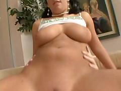 Brunette Jordan Star bouces that big ass on his hard cock
