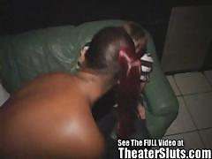 Monique Ebony Submissive Slave Gets Fucked in a Porn Theater