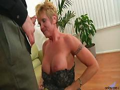 Older granny takes hard pounding