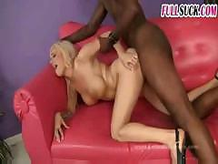 Busty babes get hammered by this black dude's big black cock