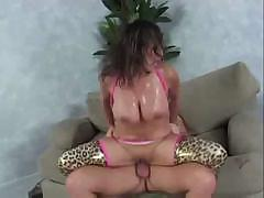 Busty Ava Devine eats his cock and gets facial before fucking