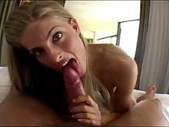 Cayenne Klein is one horny bitch sucking and fucking this cock