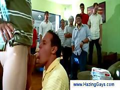 Gays get fisted anally during hazing
