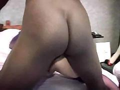MILF gets a dildo and a big black cock in her ass and pussy