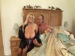 British busty MILF Kirstyn Halborg gets bent over and fucked hard
