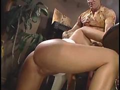 Avy Scott sticks out her ass and gives a nice blowjob and fucks
