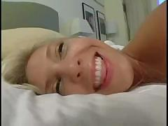 Blonde enjoys being on film while she sucks and fucks his cock