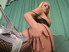 Diana Gold has two black cocks to use and gets a double penetration