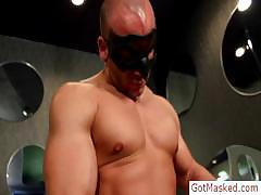 Muscled stud stroking cock by gotmasked