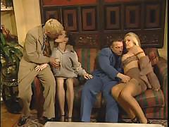 Dolly Golden and friend take a cock each and fuck like whores