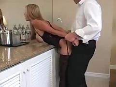 Young mom keeps in shape by sucking cock and bending over for a fuck