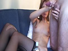 Lilly provides room service and sucks and fucks a hard cock