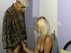 Blonde babe sucks a little and takes a cock up her hot ass