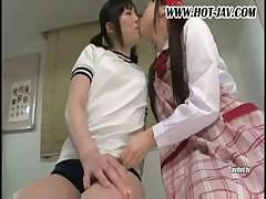 Asian lesbians are licking each other's wet pussy and coming