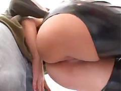 Big tit brunette with a hot ass gets fucked from behind well