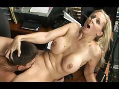 Julian Ann gives lip service to her boss and bends over to fuck
