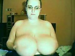 Fucking huge boobs of lobely bbw whore