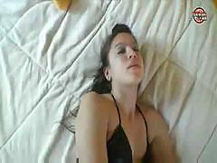 Spanish babe with a nice ass sucks and fucks a dick for juice