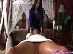Babes goes for massage and gets the complete pussy package