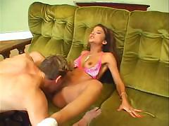 Hot Cindy Gold loves to suck on a hard cock and then fuck it