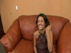 Vanessa Leon shows off her body on the couch before getting fucked