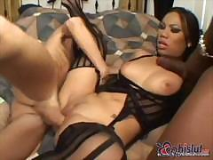 Lexington Steele and Lucy Thai and friend fuck her very hard
